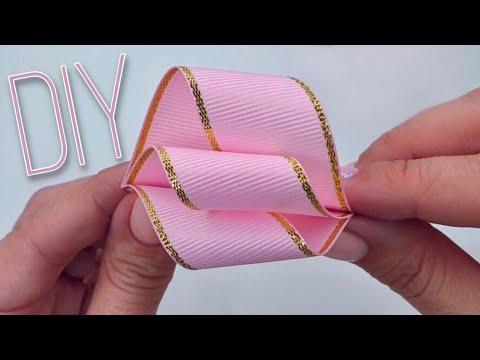 Заколки и резинки для волос из лент своими руками