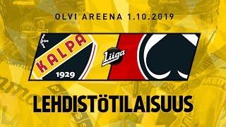 Lehdistötilaisuus, KalPa - Ässät, 1.10.2019