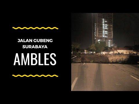 Video Amblesnya Jalan Raya Gubeng Surabaya Tadi Malam