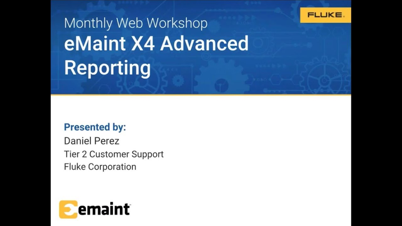 Web-Workshop: Advanced reporting in eMaint X4