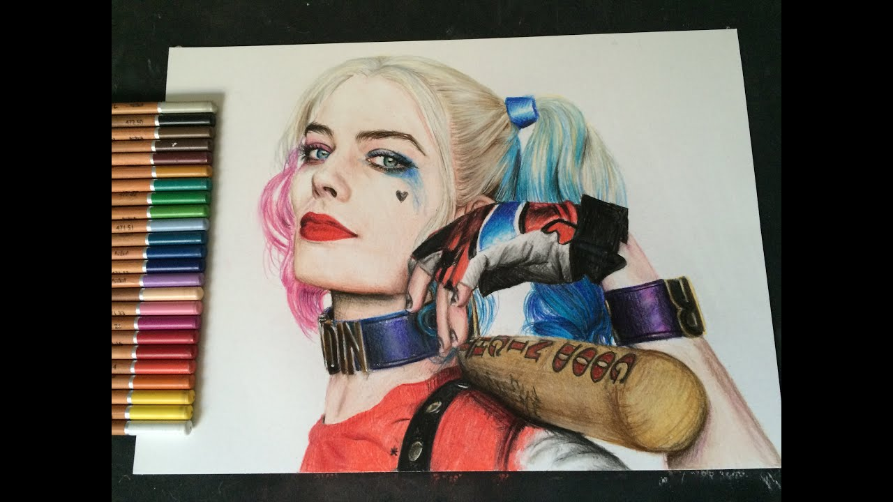 Quinn Drawing: HARLEY QUINN TIME LAPSE DRAWING