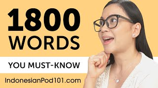 1800 Words Every Indonesian Beginner Must Know