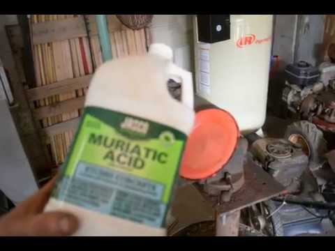muriatic acid to clean a gas tank fast and easy