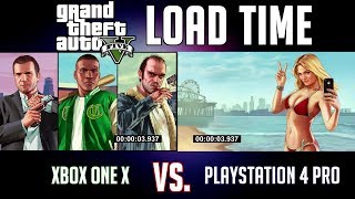 Xbox One X vs. PS4 Pro | Which Console Loads Grand Theft Auto V Faster?