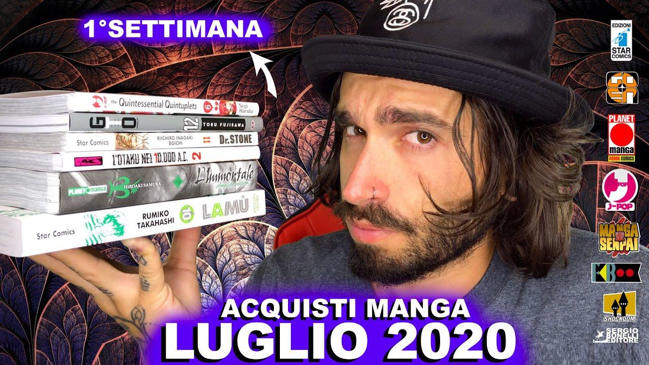 ACQUISTI MANGA LUGLIO 2020 - 1° SETTIMANA