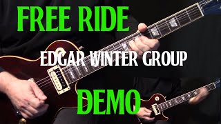 "how to play ""Free Ride"" on guitar by The Edgar Winter Group 
