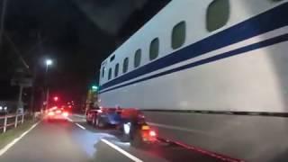 新幹線陸送 N700A G38編成 中間車 陸送 豊川市正岡町 2017/11/01