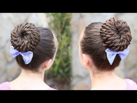 Rope-Twisted Pinwheel Bun | Prom Hairstyles 2019