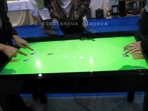 SpotOn Interactive: Multi-touch Multiplayer Game Table: Pong
