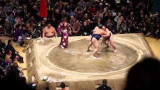 2015年1月場所 千秋楽 白鵬 対 鶴竜.