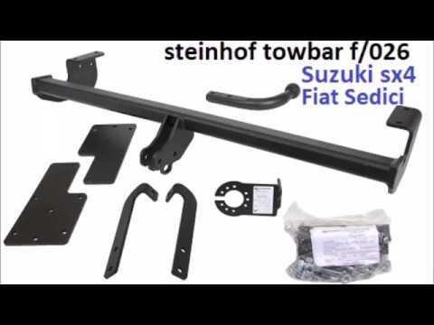 Towbar Installation Steinhof F026 Suzuki Sx4 Fiat Sedici