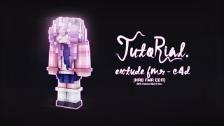tutorial how to extrude fmr skin minecraft c4d hrb fmr edit 400