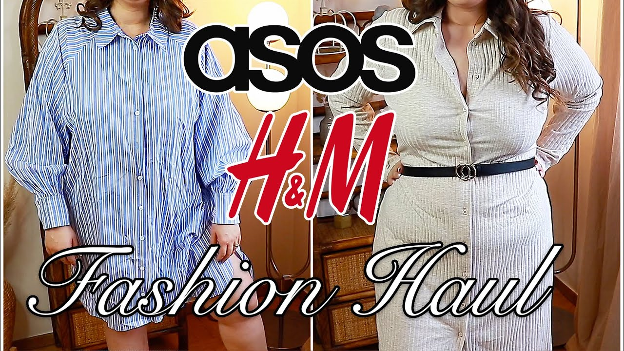 plus size fashion haul | asos, h&m and second hand
