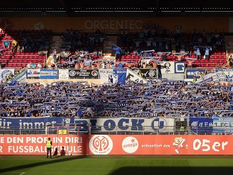 Mainz 05 vs. 1. FC Magdeburg (Fangesänge und Lieder der FCM Fans) | Block U Magdeburg