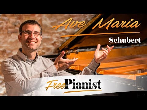 AVE MARIA - SCHUBERT - karaoke / piano accompaniment - C key instruments