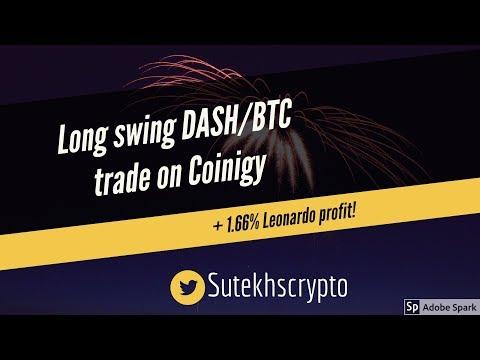 Long Swing DASH/BTC Trade With Coinigy + 1.66% Profit With Leonardo Bot!