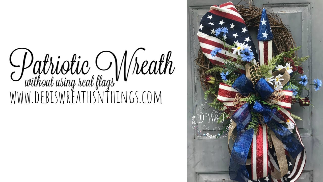 Grapevine Wreath 4th of July Wreath Patriotic Wreath Year Round Wreath USA Sign Housewarming Gift Gift for Him Military Wreath