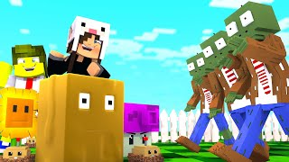 2 PLANTAS VS UMA INVASÃO DE ZUMBIS ! (Desafio Plants VS zombies no MINECRAFT)
