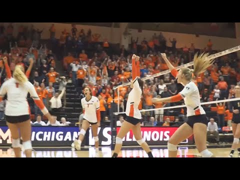 Illini Volleyball | Highlights vs Michigan 11/4/17