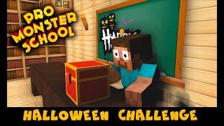 Pro Monster School: HALLOWEEN CHALLENGE - Best Minecraft Animation 13+