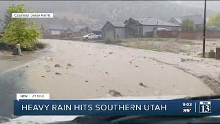 Heavy rain, flash flooding hits southern Utah