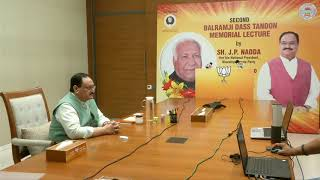 Shri JP Nadda addresses the 2nd Balramji Das Tandon Memorial Lecture