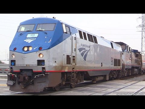 AMTRAK TRAINS (March 18th - April 22nd 2016) + BNSF/Metrolink BONUS!