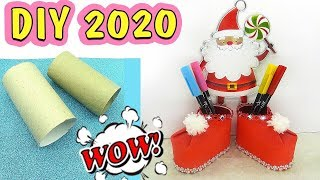 DIY Unusual pencil holder - Santa's boots ⛄ Cool DIY Christmas Gift 2020