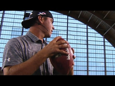Camilo Villegas and Gary Woodland test their football and hoops skills