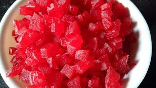 Tutti Frutti from Papaya | Candied Papaya Cubes | Papaya Recipe | How to make Tutti Frutti at Home |