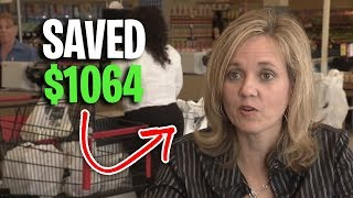 Store Gives Woman Money After Using Her Coupons (Extreme Couponing)
