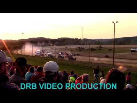 Marion Center Speedway 8/5/17 Mirco Sprint Heat 1 OF 2