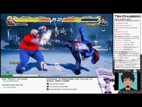 Tekken 7 Online stream battle with Mysterious Specimen via Twitch