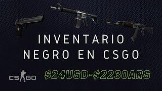 Inventario Negro CSGO | $24 USD | $2230 ARS