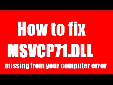 WINDOWS GRATUIT 7 MSVCP71.DLL TÉLÉCHARGER GRATUIT
