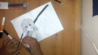 How to draw Rurouni Kenshin: Kenshin and Kaoru