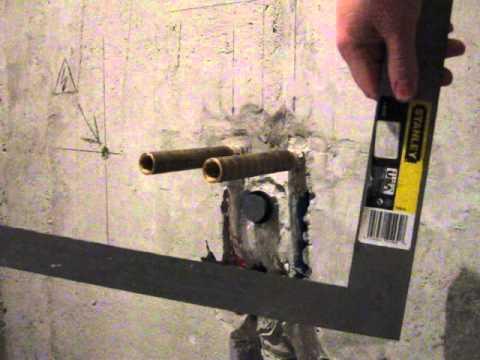 видео: Установка водорозеток