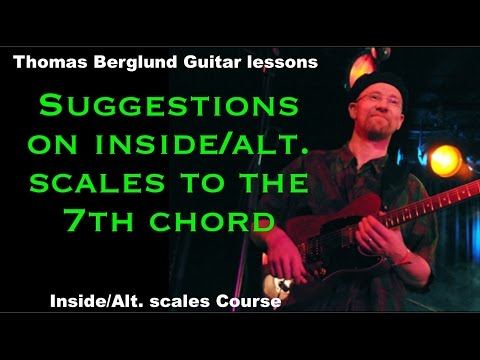 Inside and Alternative soloing scales to the 7th chord // Guitar lesson