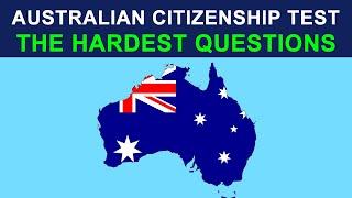 AUSTRALIAN CITIZENSHIP TEST 2018 - THE HARDEST QUESTIONS