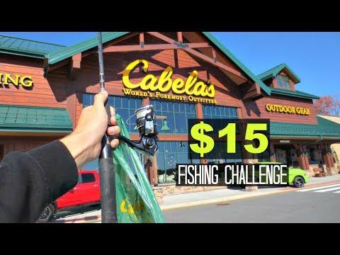 $15 Cabelas TROUT Fishing Challenge!! (Unexpected!)