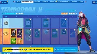 BUYING AND SHOWING THE NEW BATTLE PASS SEASON 10 (Skins, Gestures, Peaks,..) FORTNITE