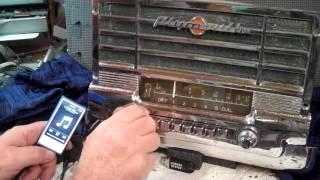 1950 Plymouth Deluxe original AM radio.