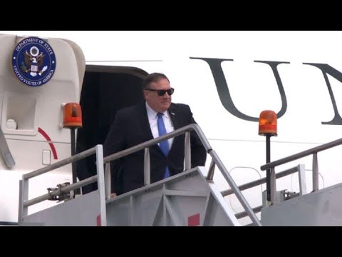 US Secretary of State Mike Pompeo arrives in Mexico City
