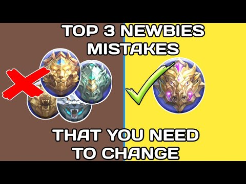 TOP 3 NEWBIES MISTAKES THAT YOU NEED TO CHANGE   MOBILE LEGENDS GUIDE TO PRO