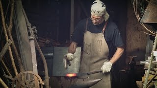 Traditional Knife Making - Forging a Shear Steel Tanto Blade...full process