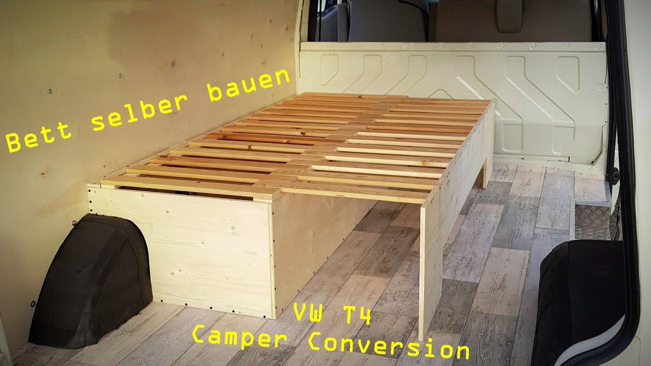 VW T9 umbau zum Camper Van - #19 - ausziehbares Bett selber bauen