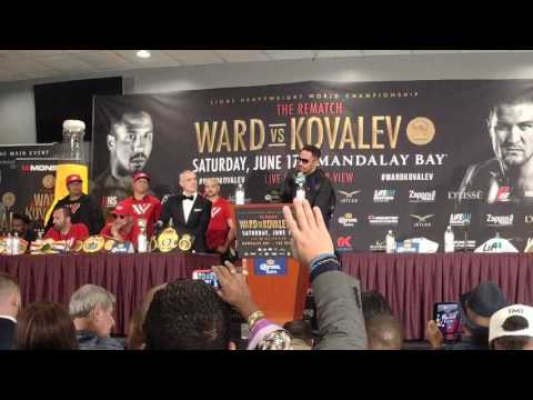 Andre Ward speaks after defeating Sergey Kovalev
