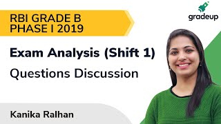 RBI Grade B Phase 1 Exam Analysis 2019 (9 Nov, shift 1): Questions asked, Level, Good Attempt