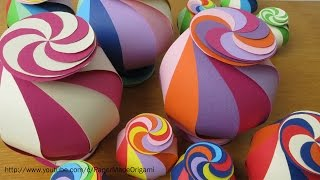 How to Make Twisted Candy Box for Kids with Paper | DIY | Crafts & Origami | PaperMade