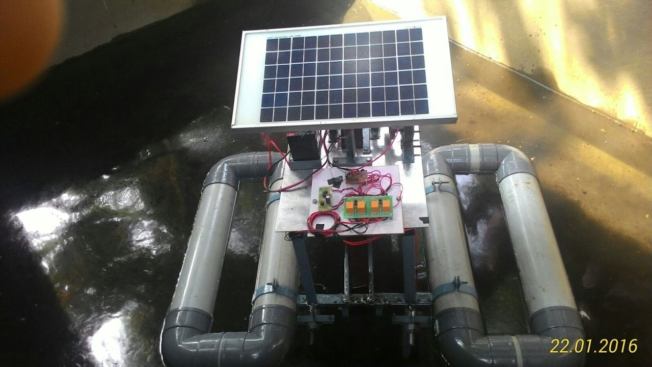 Download OIL SKIMMER ROBOT   B.Tech/ Diploma Project